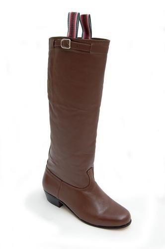 bota de couro estilo campeiro gaúcho com solado torneado